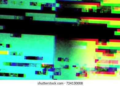 abstract realistic screen glitch flickering, analog vintage TV signal with bad interference, static noise background, overlay ready
