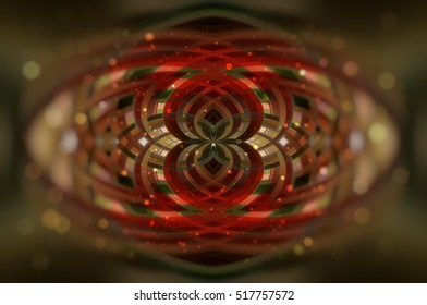 Abstract red background defocused lights. romantic illustration