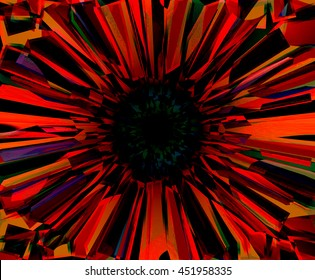 abstract red background explosion