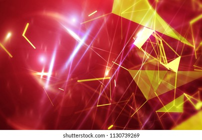 Abstract red background. Explosion star. Motion background. illustration digital.