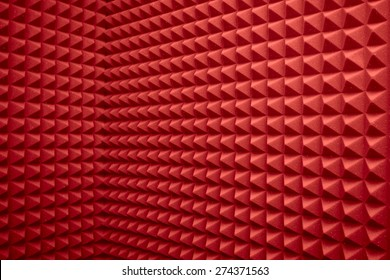 abstract red background or soundproof wall texture