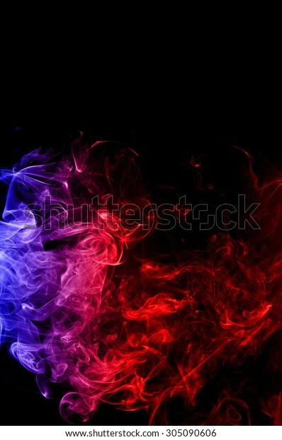 Abstract Red Blue Smoke On Black Backgrounds Textures