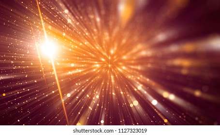 Abstract red bokeh circles. Beautiful illustration background with particles.