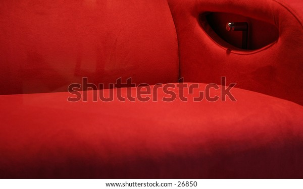 abstract red couch