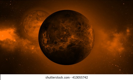 Abstract red dead planet background