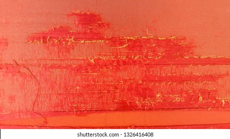 Abstract red fabric ripped and tear is texture pattern With surface background