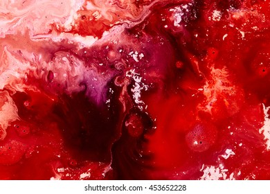 Abstract red marble paint background