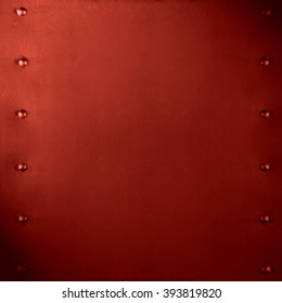 abstract red metal background or smooth plate texture