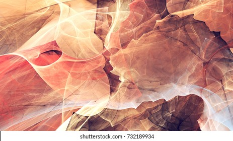 Abstract red motion composition. Fantastic smoke in bright colors. Modern futuristic background with lighting effect. Fractal artwork for creative graphic design.