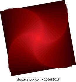 Abstract Red Pyramid