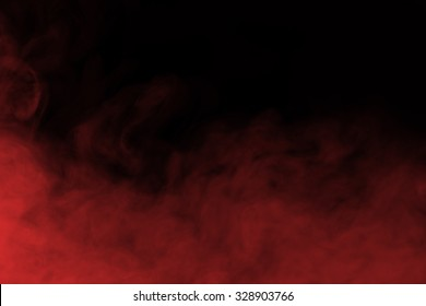 Abstract red smoke and fog background
