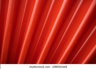 Abstract of red stripe metal sheet  pattern background