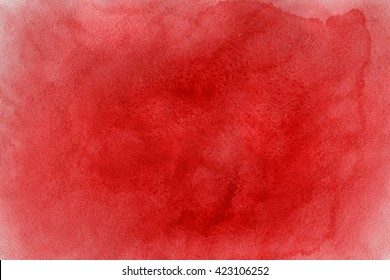 Abstract red watercolor background. Red watercolor texture. Abstract watercolor hand painted background.