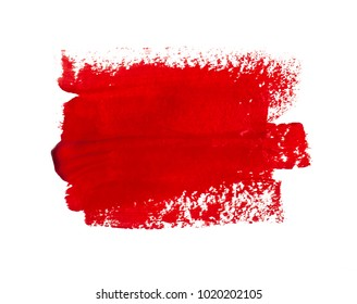 Abstract red watercolor paint splash background.