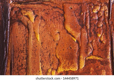 abstract relief, traditional oil painting, burnt sienna look, embossed, closeup