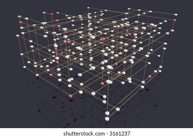 abstract rendering of a symbolic multilayered network