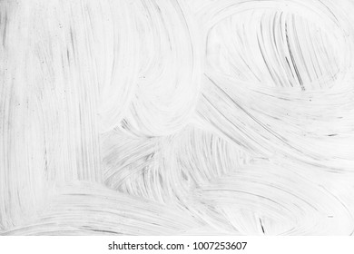 Abstract renovation background photo, white paint pattern over gray wall