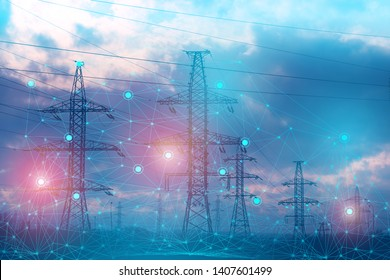 an abstract representation of solving problems using artificial intelligence to increase reliability and reduce losses and accidents during the transmission of electrical energy