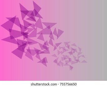 Abstract retro pattern of geometric shapes. Colorful gradient mosaic backdrop. Geometric hipster triangular background