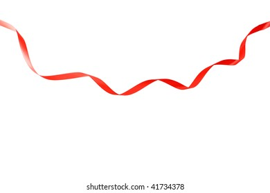 Abstract ribbon isolated on white background