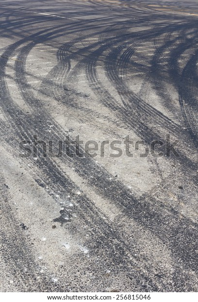 Abstract Road Background Tracks Tires Stock Photo (Edit Now