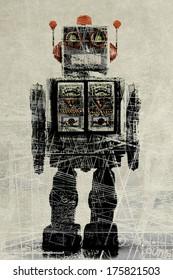 abstract robot concept