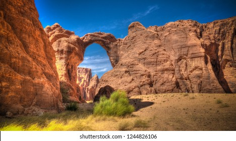 Abstract Rock formation at plateau Ennedi aka Aloba arch , Chad
