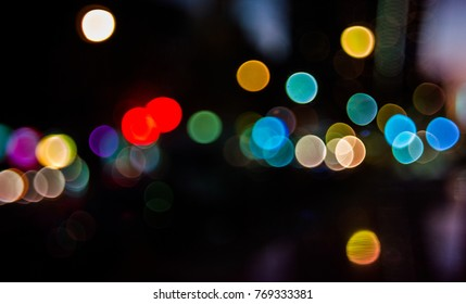 Abstract romantic new york city holiday light in bokeh