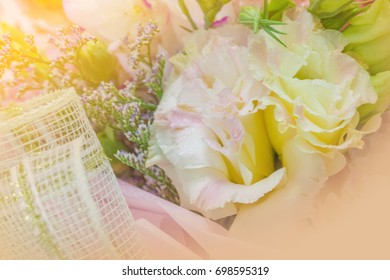 Abstract Romantic Pink Roses Flower