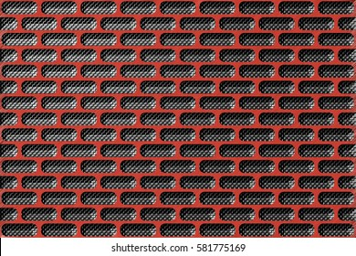 Abstract round rectangle tile background