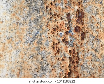 Abstract rust on steel pattern background.