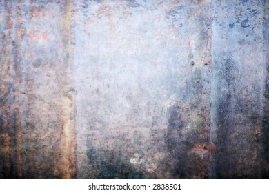 Abstract rusty blue metal background