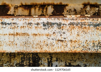 Abstract rusty metal background with peeling paint