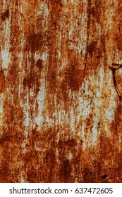 Abstract rusty metal texture, rusty metal background for design with copy space for text, image. Unprotected from atmospheric wet influences Rusty metal. Rusty metal texture background