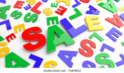 Abstract sale background. Three dimensional illustration.
