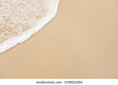 abstract sand of beach and soft wave background