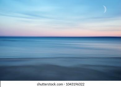 Abstract Scene of Beach at Dusk