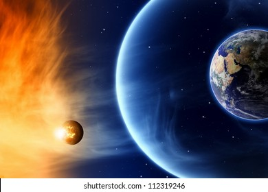 Abstract scientific background - save planet Earth. Elements of this image furnished by NASA.