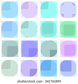 Abstract seamless geometric blue pattern. Repeating geometric shapes