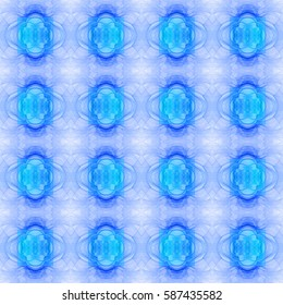 Abstract seamless pattern with decorative interconnected squares, rings and arches, ideal for any kind of fabric,print or any other creative use, in pastel colors
