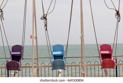 Abstract seaside beach scene England