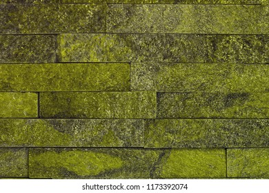 abstract shabby yellow natural quartzite stone bricks texture for design purposes.