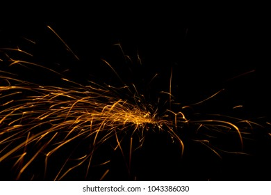 Abstract shape of splashing sparklets in form of spider