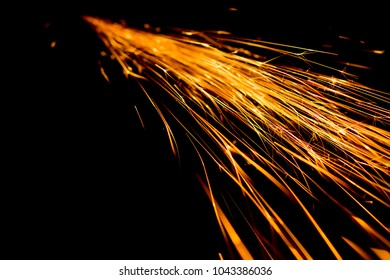 Abstract shape of splashing sparklets like comet tail straight to perspective.