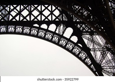 Abstract shapes of Eiffel Tower