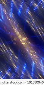 abstract shiny blue background with beams and stars. illustration digital.