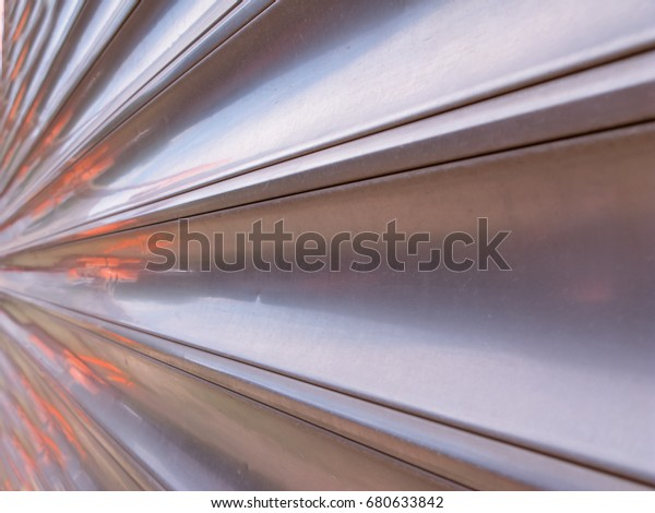 Abstract Shiny Metal Perspective Background