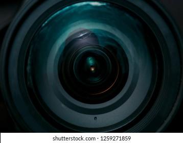 Abstract shot of the camera lens