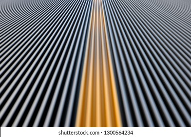 Abstract shot of walkalator with slow shutter speed showing movement