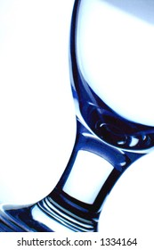 An abstract shot of a wine glass